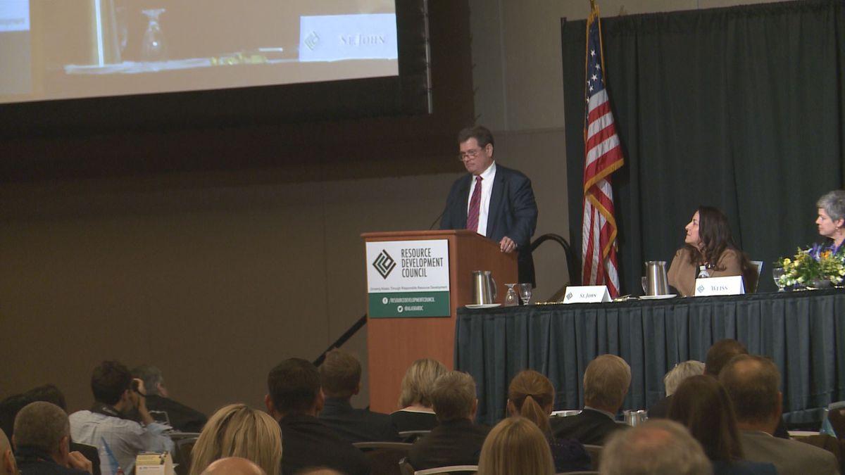 David Wilkins, VP of Hilcorp Alaska, speaking at the annual RDC conference in Anchorage.