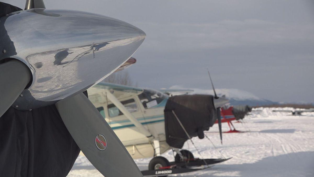 Planes at the McGrath airport.