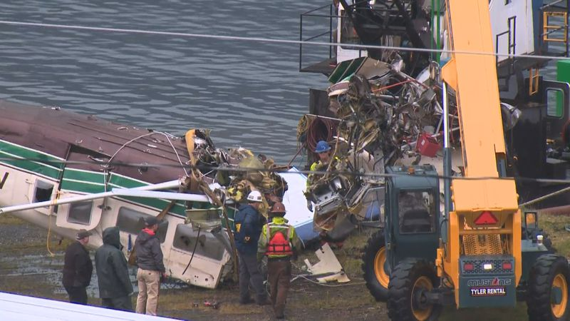 Wreckage recovery of the planes involved in a deadly mid-air collision in Ketchikan