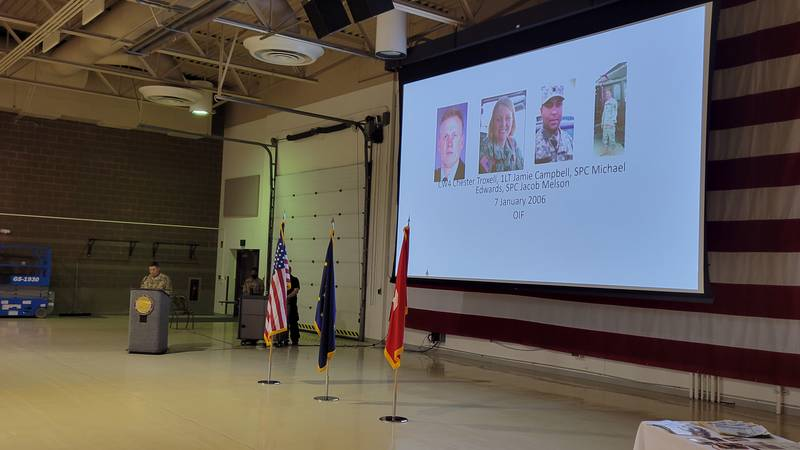 Brig. Gen. honors some of the Alaska National Guard troops who died in the War on Terrorism...