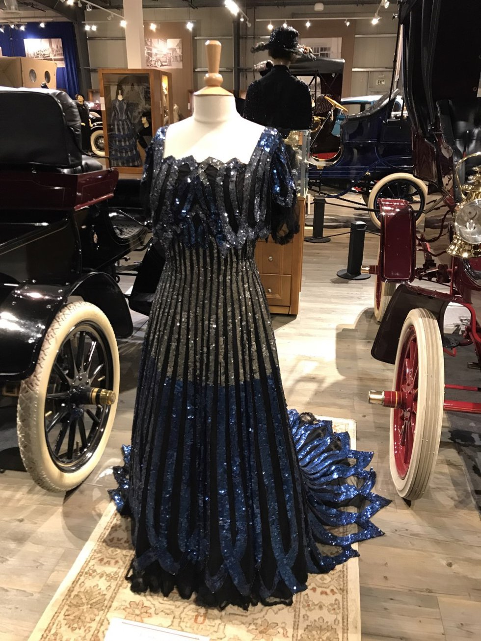 Gown at the Fountainhead Antique Auto Museum