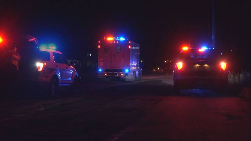 Anchorage police block off the scene of a pedestrian vs. vehicle collision in Midtown that...