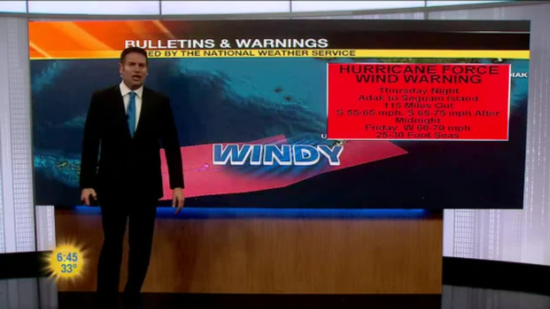 Hurricane Force Wind Warning in the Central Aleutian's
