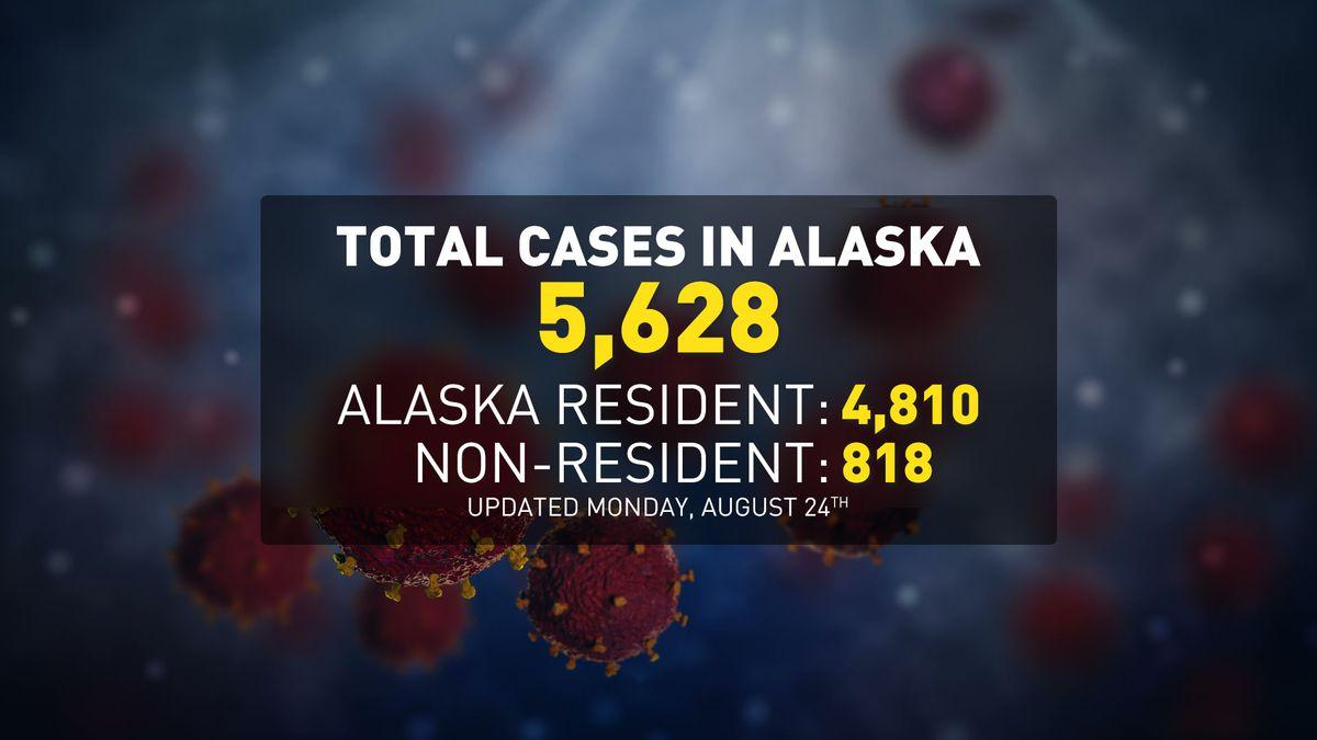 Case count map for Alaska