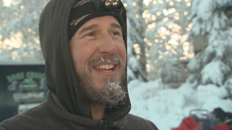 Veteran Musher Brent Sass at the start of the 2020 Yukon Quest in Fairbanks, Alaska. (KTUU)