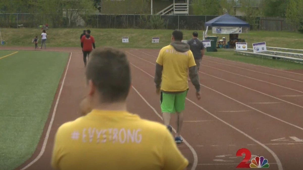 People participate in the American Cancer Society Relay for Life annual fundraiser last year.