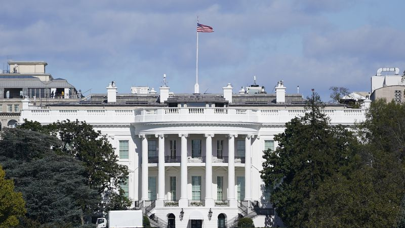 A view of the White House in Washington on Nov. 2, 2020.