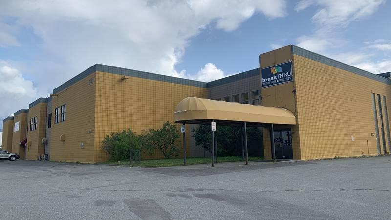 The old Alaska Club building in Midtown Anchorage, Alaska.