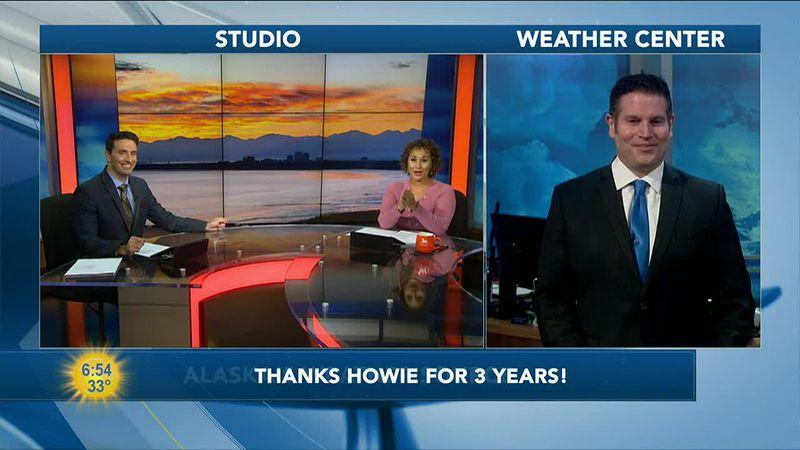 Wishing Howie goodbye.