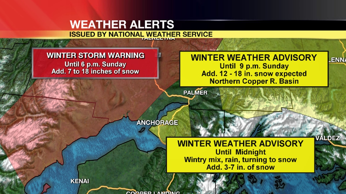 A winter storm is moving through Southcentral making travel difficult.