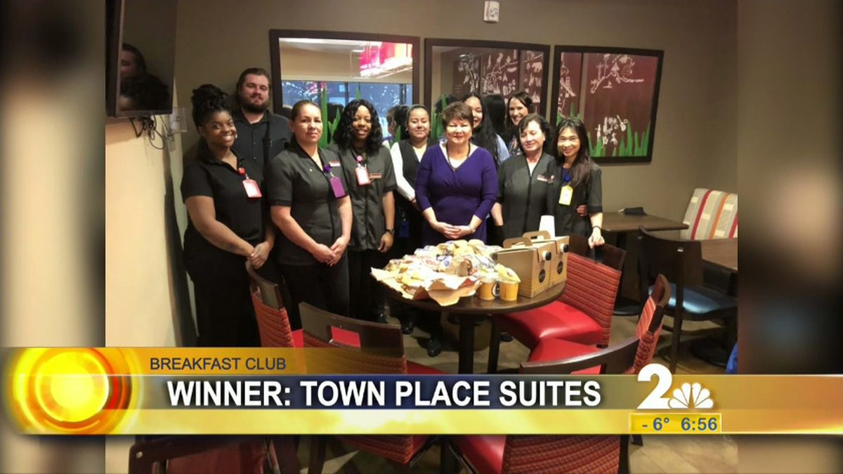 Breakfast club winners TownPlace Suites by Marriott.