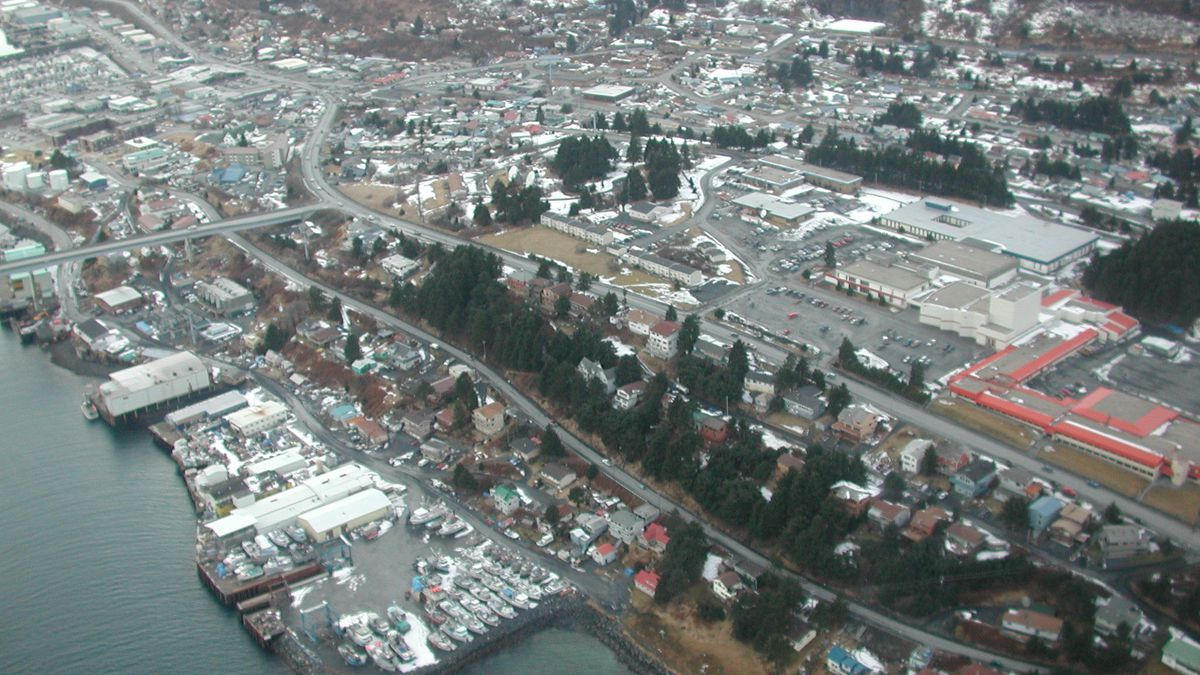 Kodiak in winter (Photo from Department of Commerce)