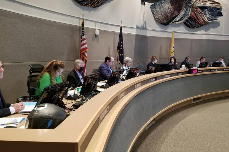 Anchorage Assembly members meet on July 13, 2021.