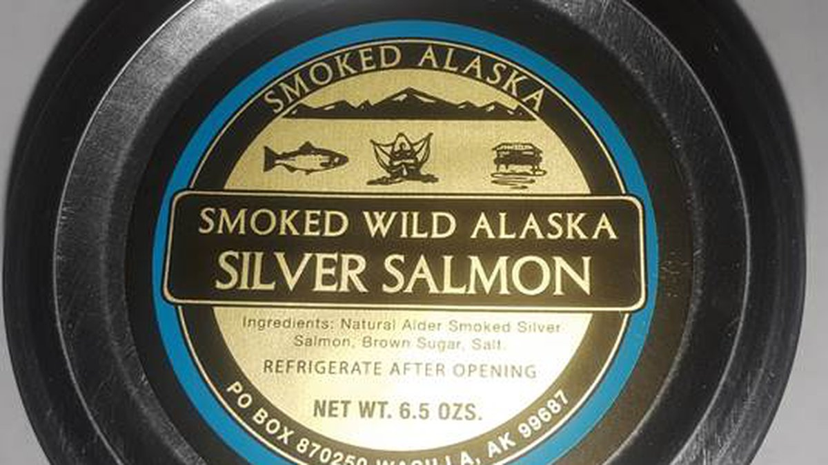 6.5 oz. container of Smoked Alaska Seafoods, Inc. Smoked Silver Salmon (From Dept. of...