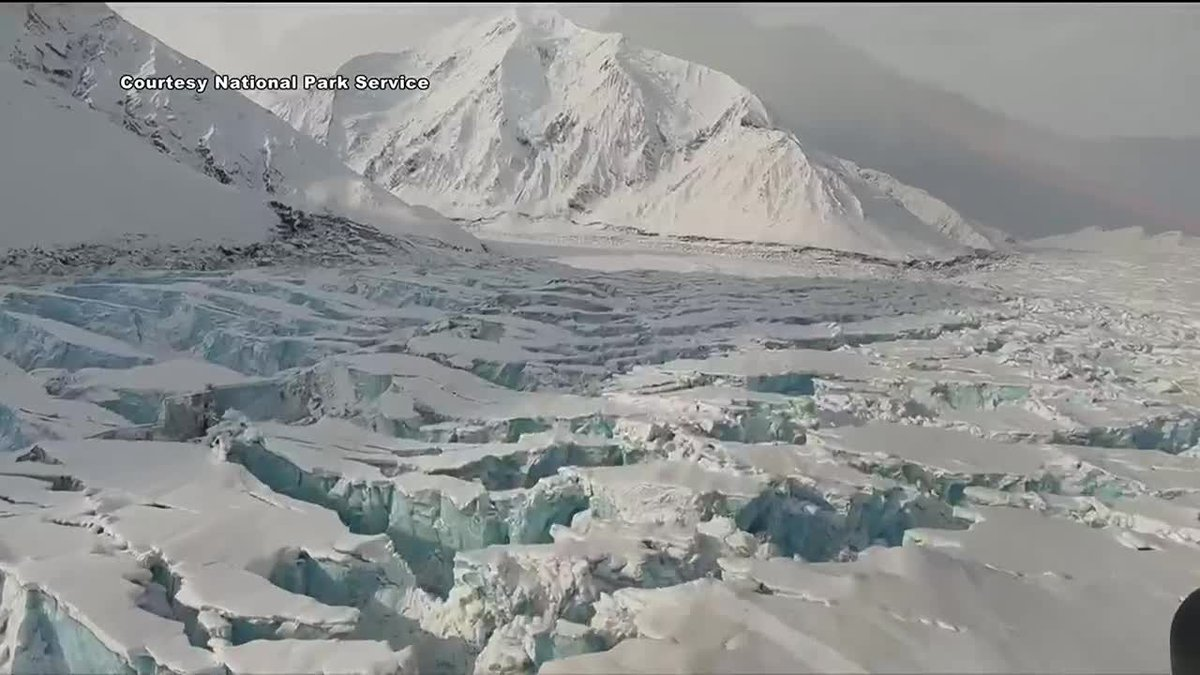 Muldrow Glacier near the beginning of the surge.