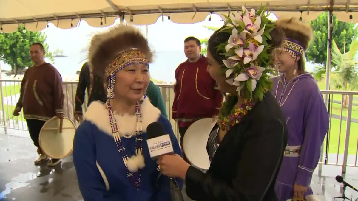 Alaska Native dance group Cupiit Yurartet traveled to Hawaii to perform at the Merrie Monarch...