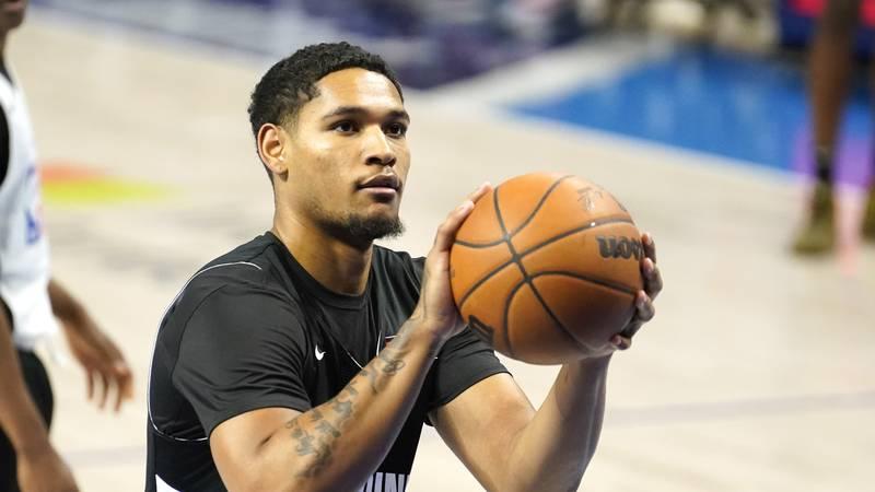 Daishen Nix participates in the NBA draft combine at the Wintrust Arena Thursday, June 24,...