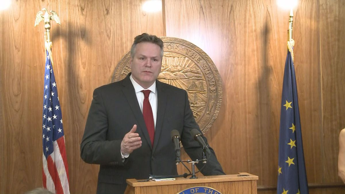 Gov. Mike Dunleavy announces his budget proposal on Feb. 13, 2019 (KTUU)