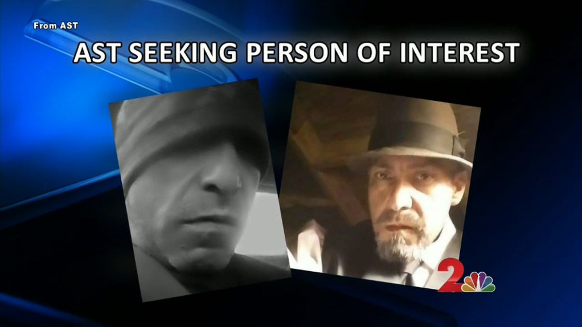 Two photos, provided by Alaska State Troopers, show Juan Camarena, 51, a person of interest in a triple homicide in early November. AST photos.