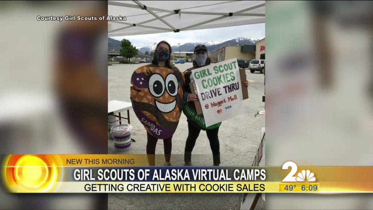 Girls Scouts of Alaska drive thru cookie sales