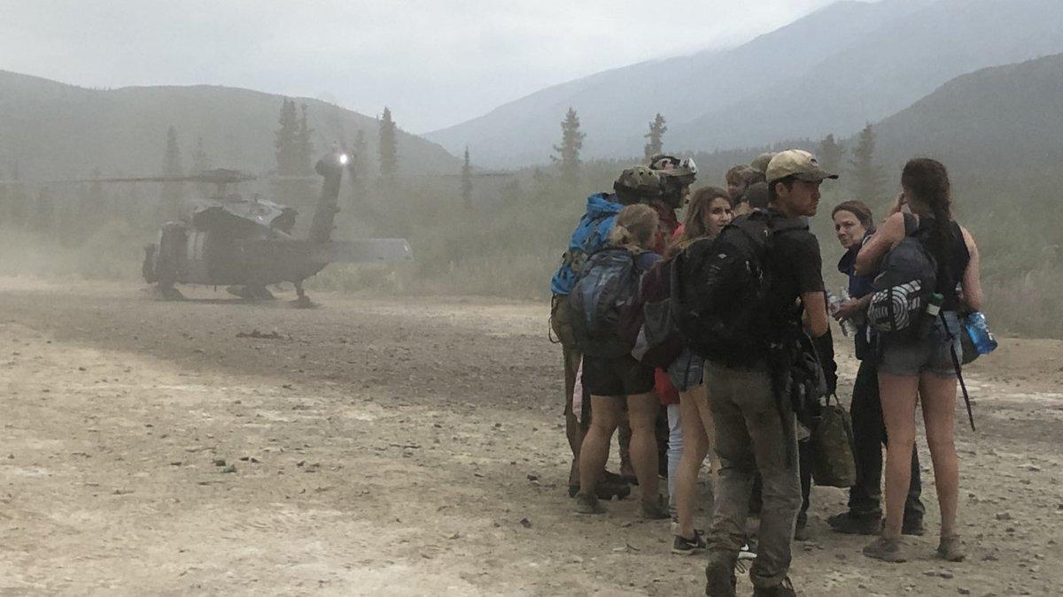 Residents are evacuated from Rainy Pass (Photo courtesy of Carly Tibbetts)