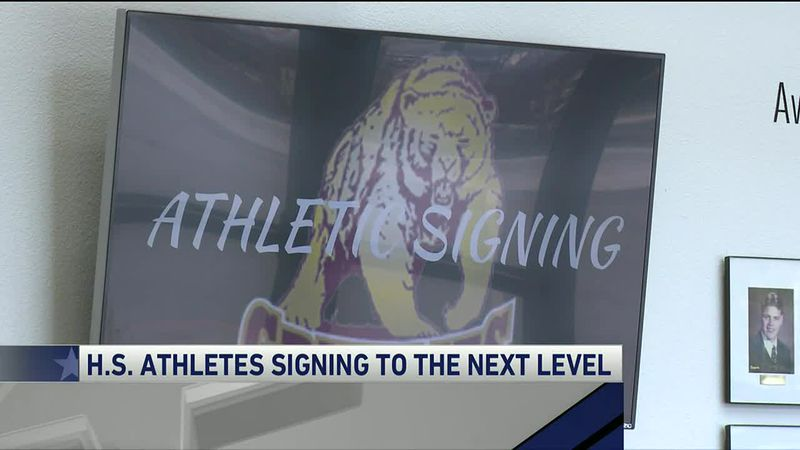 High School athletes have put pen to paper committing to different colleges across the country.