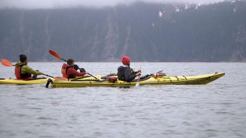 Kayaking in Resurrection Bay