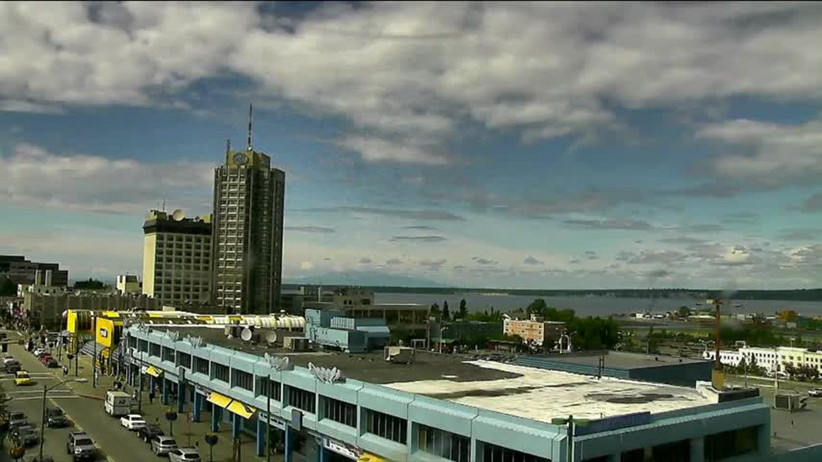 A view of Downtown Anchorage, Alaska in 2017.
