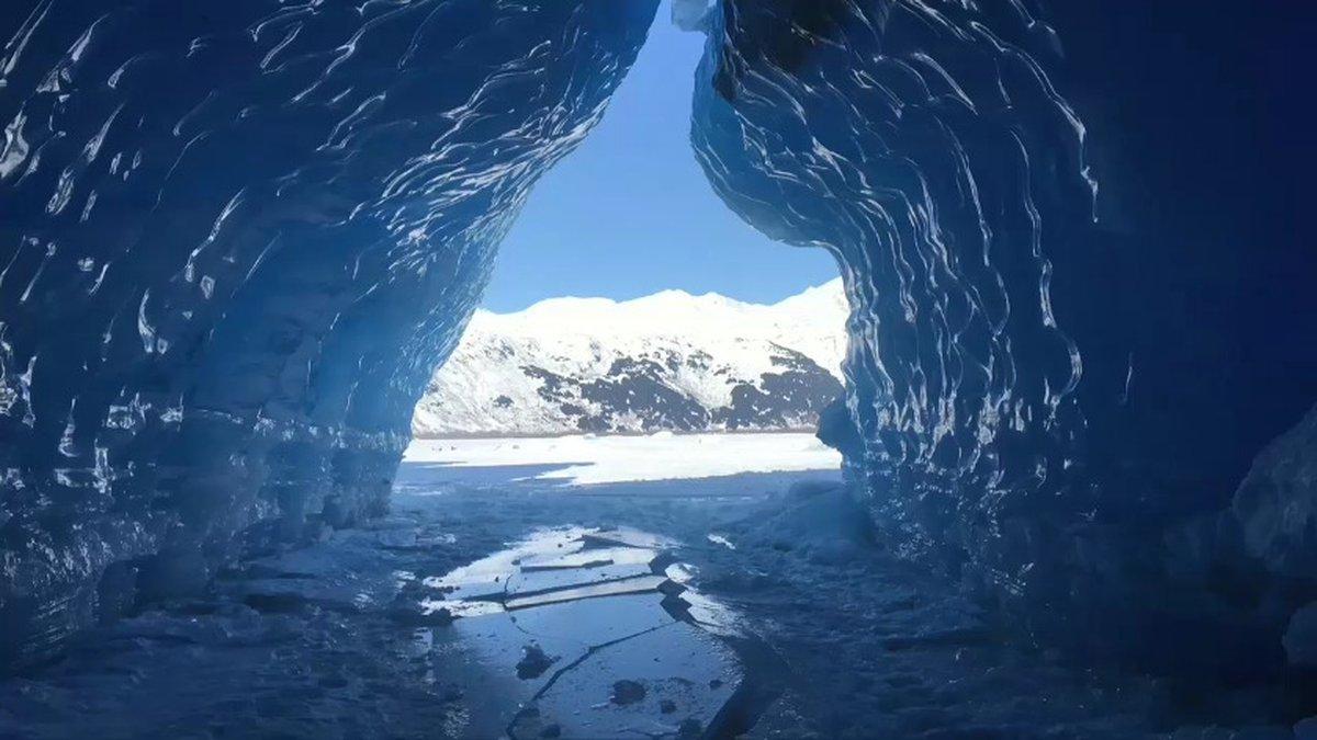 An Ice cave at Spencer Glacier, near Portage Glacier. PJ Hill 3-23-18