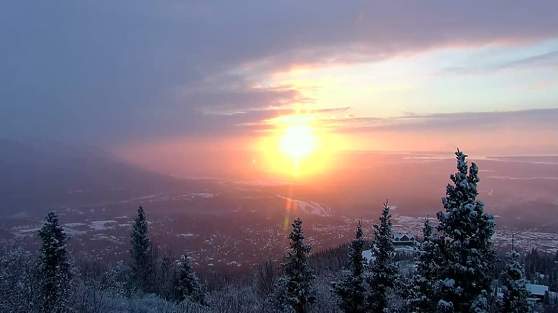 Anchorage saw an average year temperature-wise.