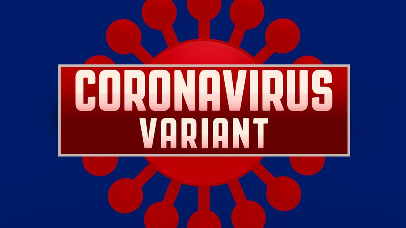 CORONAVIRUS VARIANT lettering, on texture, finished graphic (Source: AP)