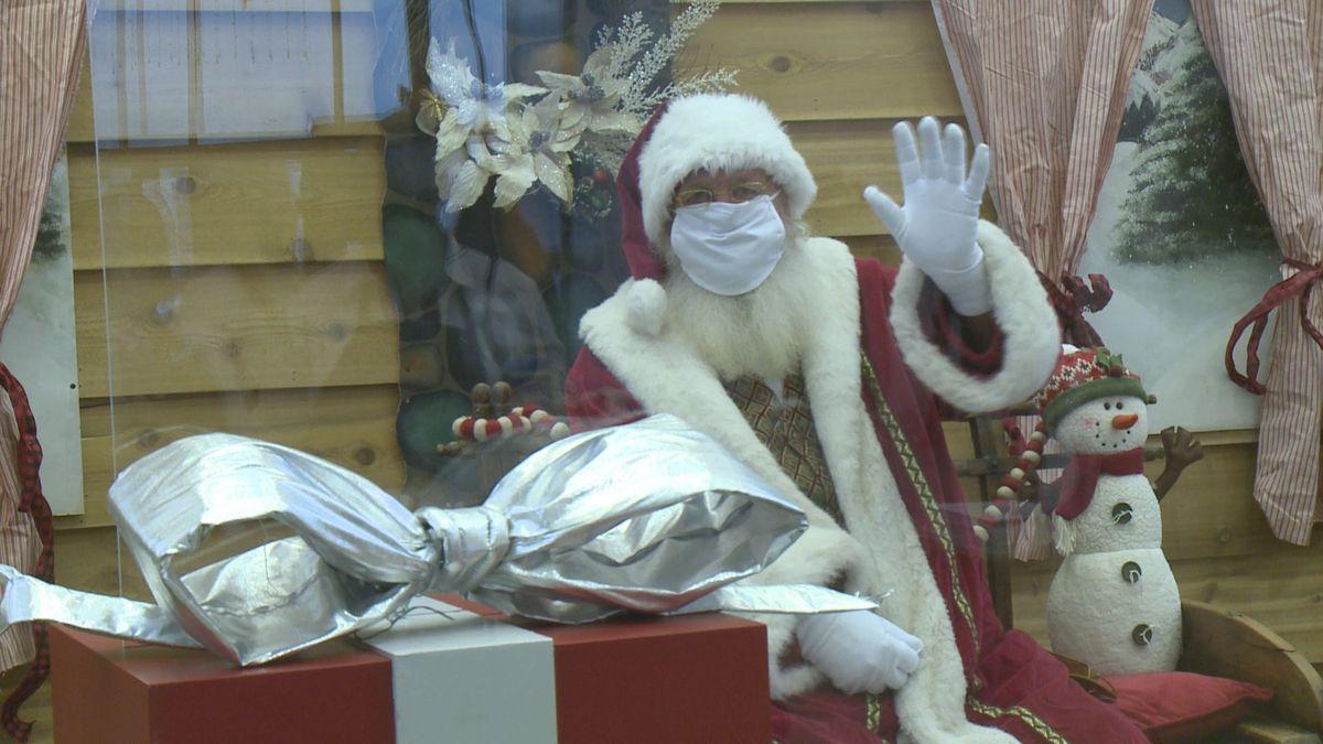 Santa takes precautions to spread magic, not COVID-19, at the Dimond Center.
