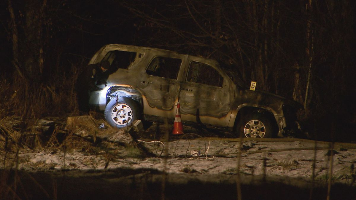 A suspicious vehicle was found burned on Nov. 30 with two corpses inside.