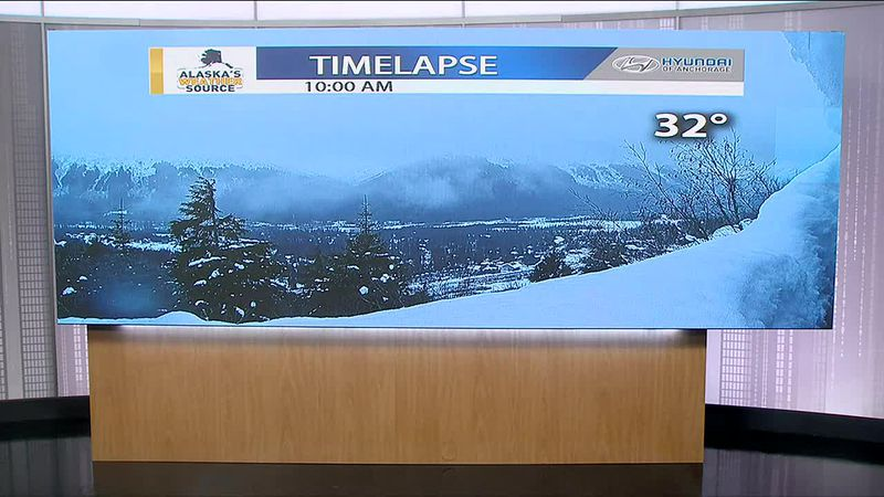 A very cool time lapse the heavy snow in Girdwood