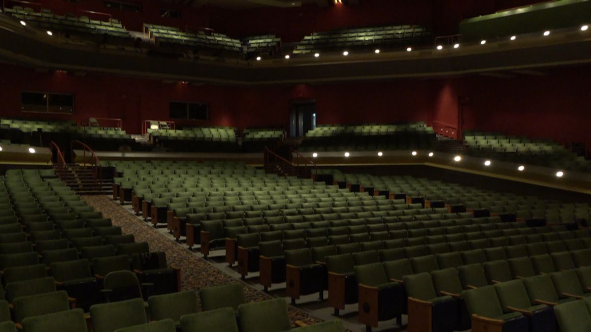 The Atwood Concert Hall in October. The only people who have been inside in months are the staff and select guests.