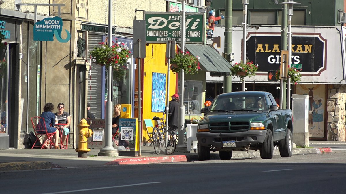 A shot down G Street in Downtown Anchorage, one of the places that will be closed off for...