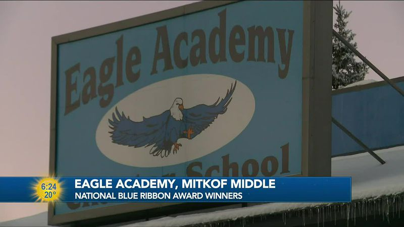 Eagle Academy and Mitkof Middle School were both recognized this year by the National Blue...