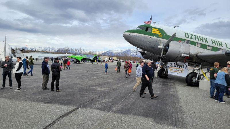 Many people turn out to check out the cool aircrafts at the Aviation Gathering.