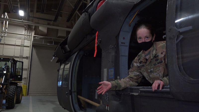 U.S. Army Staff Sergeant, Brianna Pritchard is a Blackhawk mechanical instructor and crew...