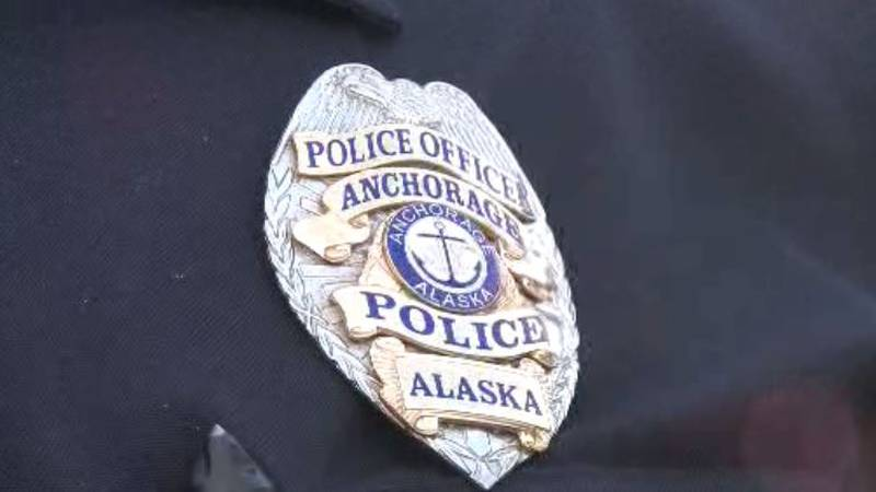 An Anchorage police badge.