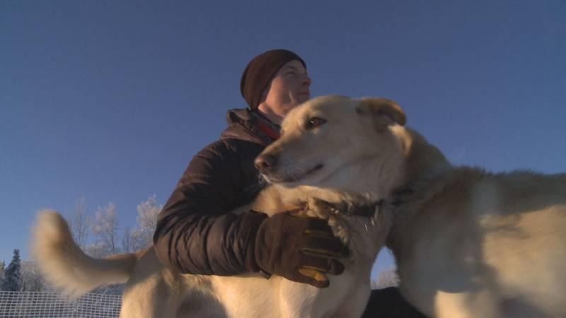 Dallas Seavey at his kennel in Talkeetna, Alaska.