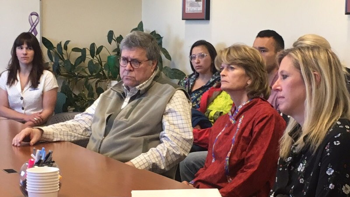 U.S. Attorney General William Barr meets with tribal leaders in Bethel to discuss public...