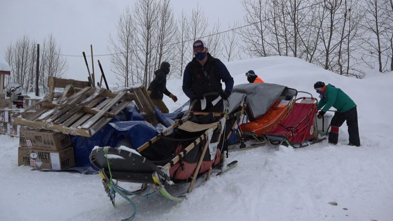 McGrath checkpoint quiet as racers continue along the Iditarod trail