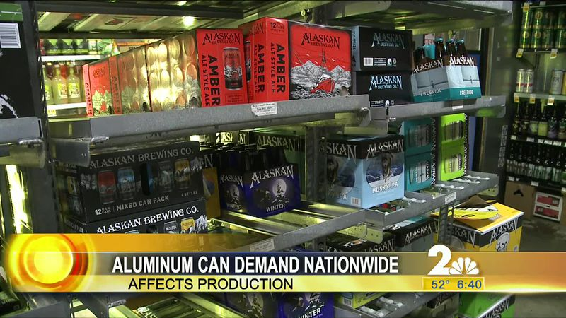 With a shortage of aluminum cans due to high demand small craft breweries are facing a tough...