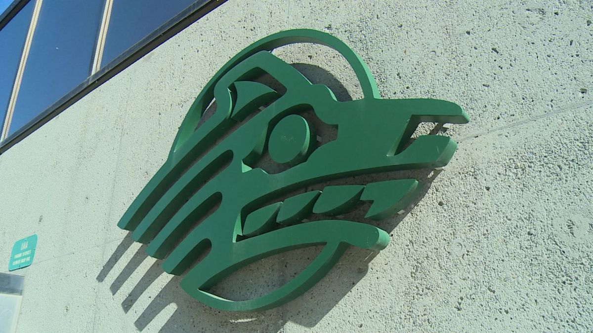 The University of Alaska Anchorage logo on campus. (KTUU)