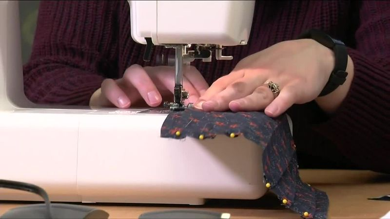 Video Editor Peggy McCormack and Content Manager Kortnie Horazdovsky sewed 38 masks to donate...