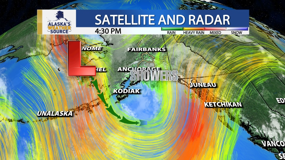 One more storm is headed for Southcentral before summer-like weather returns next week.