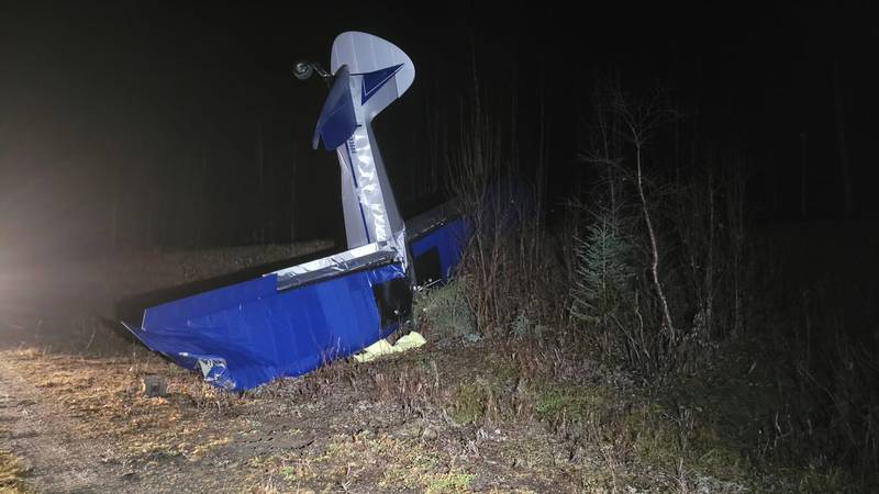 A plane crashed at the end of private airstrip along Winter Park Road in Willow on Saturday,...