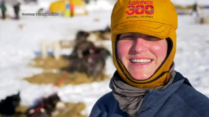 Victoria Hardwick speaks to an Iditarod Insider during the 2021 Iditarod.