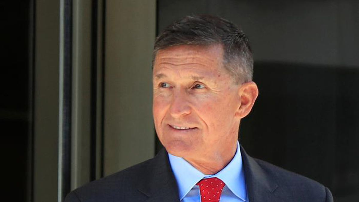 FILE - In this July 10, 2018, file photo, former Trump national security adviser Michael Flynn...